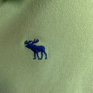 A & F Vintage Lime Green Polo Shirt
